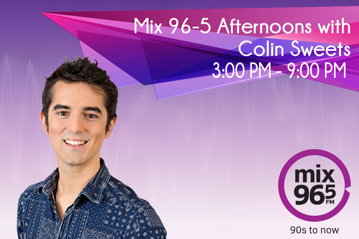 Mix 96-5 Afternoons with Colin Sweets