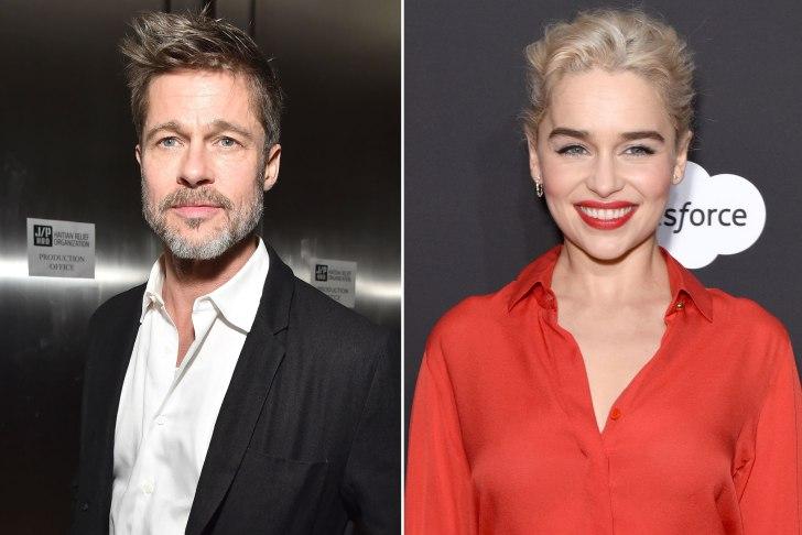 Brad Pitt Bids Lots of $$ to Watch GoT with Emilia Clarke