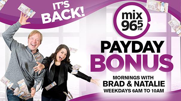 Mix 96-5 Payday Bonus