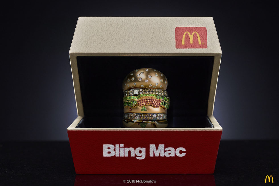 McDonald's Created a $12,500 Big Mac Ring & They're Giving It Away For Valentine's Day