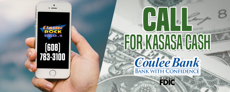 Make the call and win KASASA Cash from Coulee Bank