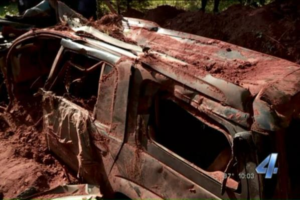 Plastic-Wrapped SUV Found Buried Behind Okla. Home