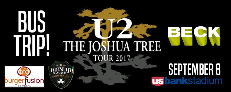 U2 & Beck at U.S. Bank Stadium Bus Trip - $249!