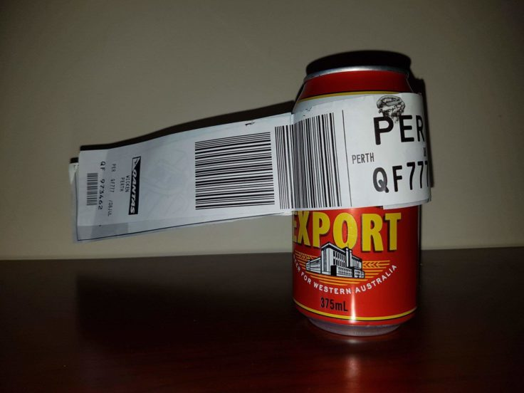 Airplane Passenger Checks In One Can Of Beer On Flight