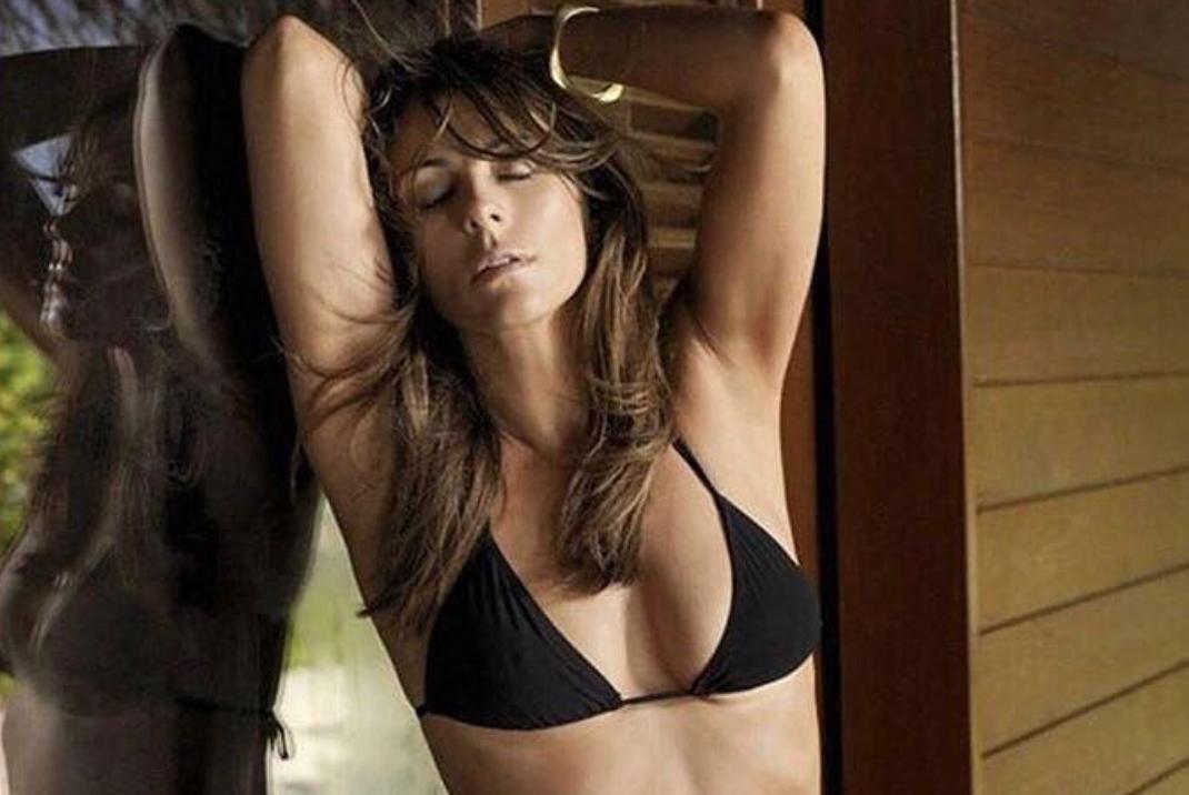 52 Year Old Elizabeth Hurley Shows Off Her Age-Defying Body in a Black Bikini