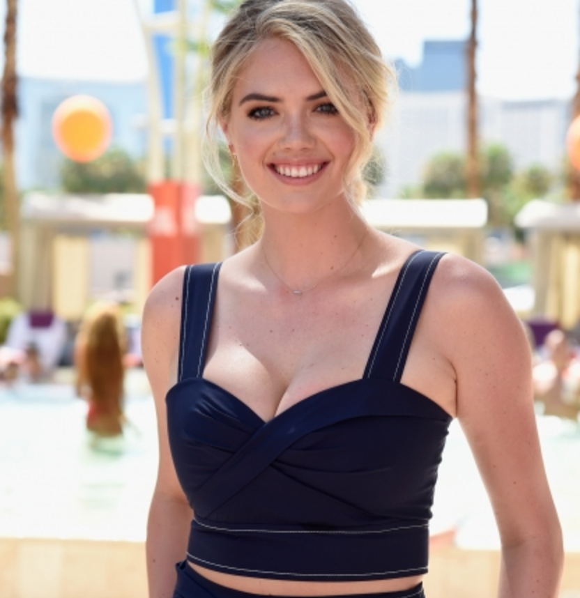 Kate Upton Forgets Her Bikini, Remembers Her Cleavage for Poolside Party