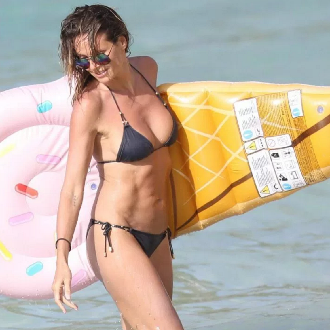 Heidi Klum Leaves Little to the Imagination in Her Skimpy Two Piece Bikini
