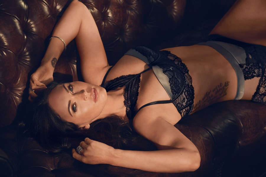 Megan Fox Poses in Stockings and Suspenders for New Fredrick's of Hollywood Lingerie Shoot