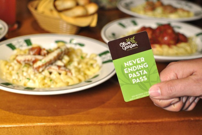 Olive Garden's Never Ending Pasta Passes Sold Out In Less Than a Second