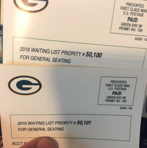 Packers Fan Illustrates the Soul-Crushing Reality of Being on the Team's Season Ticket Wait List