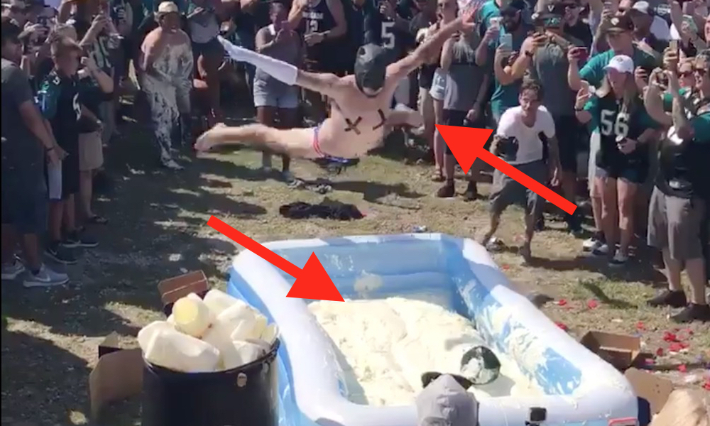 Tailgating Jags Fans Are Belly-Flopping into Pools of Mayonnaise