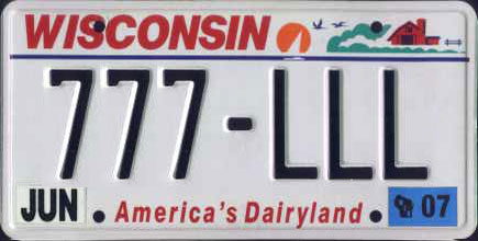 Time to change the Wisconsin license plate?