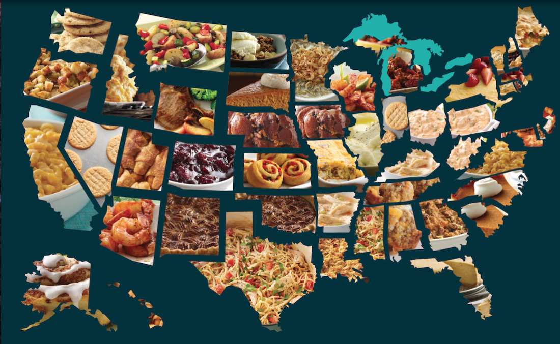 The Most Popular Thanksgiving Foods in All 50 States, Mapped