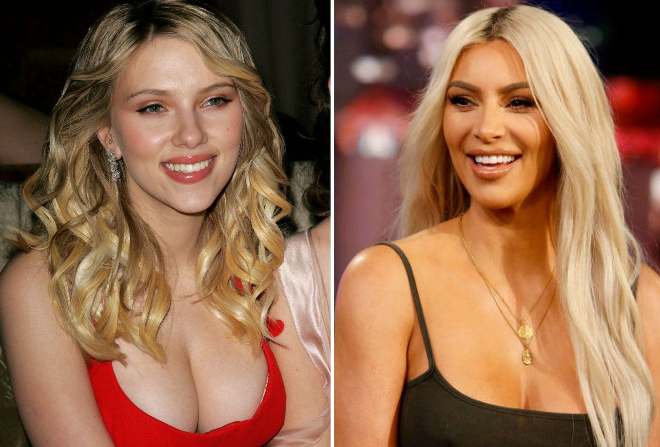 ScarJo and Kim K Top List of Celebs People Most Want to Have Sex With