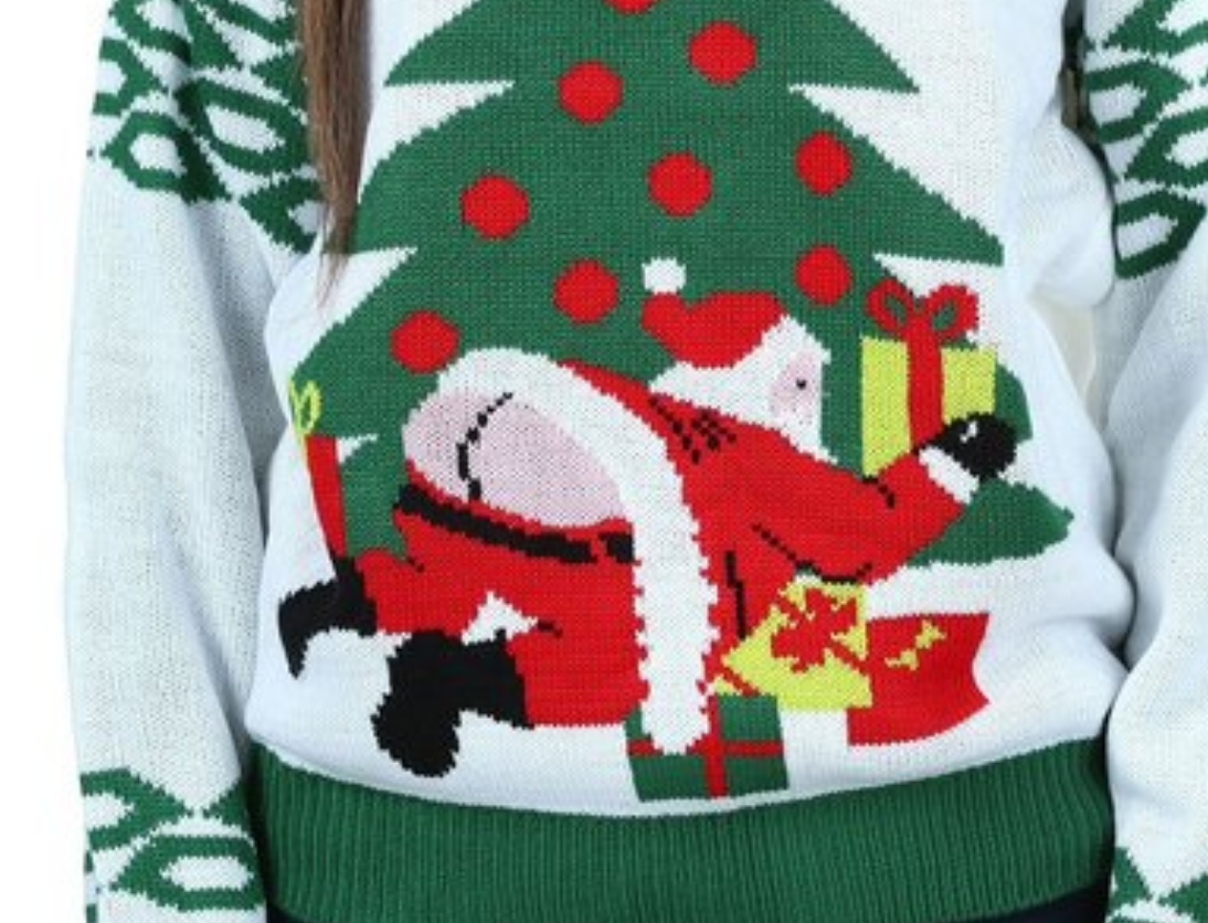 You'll See Santa's Butt on a Lot of Ugly Christmas Sweaters This Year
