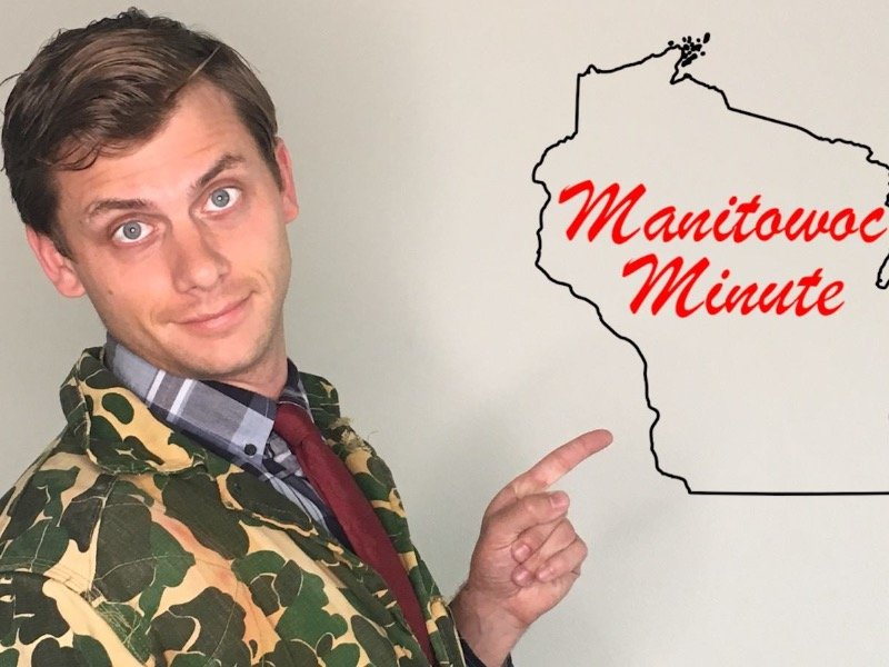 Charlie Berens creator of the Manitowoc Minute BS's with Bob Schmidt
