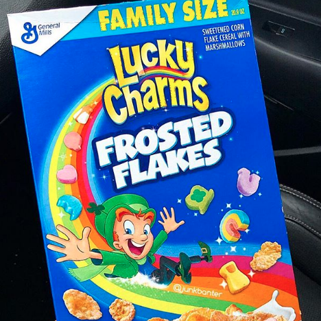 Lucky Charms Frosted Flakes Is the Sugary Cereal Mashup of Your Dreams