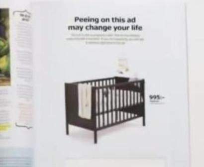 Ikea Magazine Ad Doubles as Pee-Based Pregnancy Test