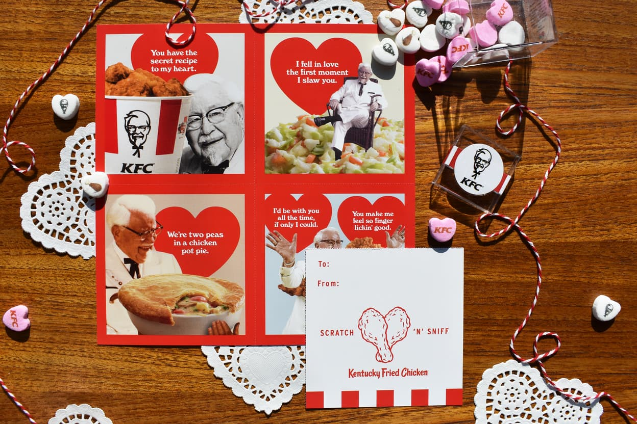KFC Is Giving Out Scratch N' Sniff Valentines That Smell Like Chicken