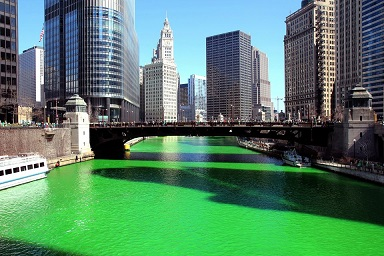 The Chicago River goes green...A brief history