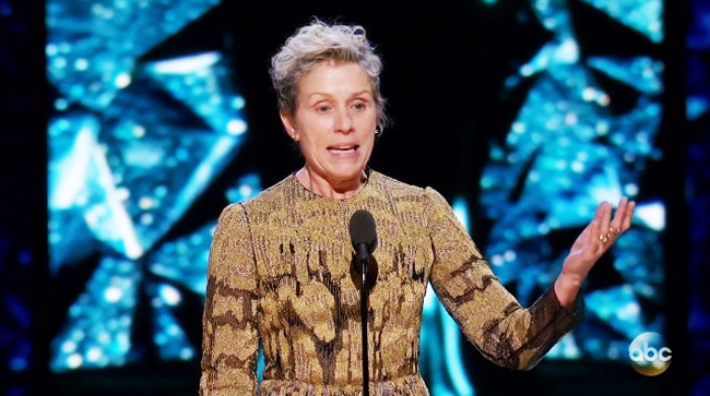 What Is the Inclusion Rider Frances McDormand Championed at the Oscars?