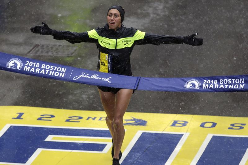 Desiree Linden 1st American Woman to Win Boston Marathon Since '85