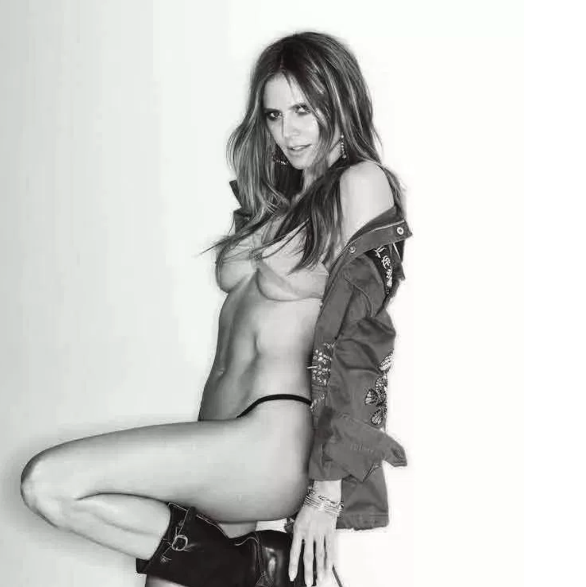 Ageless Heidi Klum Goes Topless for Busty MAXIM Spread [SFW PICS]