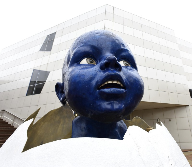 What's With the Big Blue Baby?