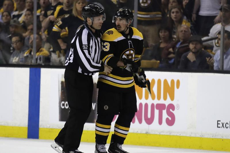 NHL Warns Boston Bruins Star Brad Marchand to Stop Licking Opponents