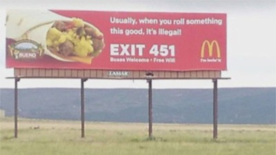 McDonald's Billboard Makes Stoner Joke, But Corporate Isn't Laughing
