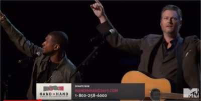 ICYMI: Blake Shelton Joins Usher to Sing 'Stand by Me' at Hand in Hand Benefit