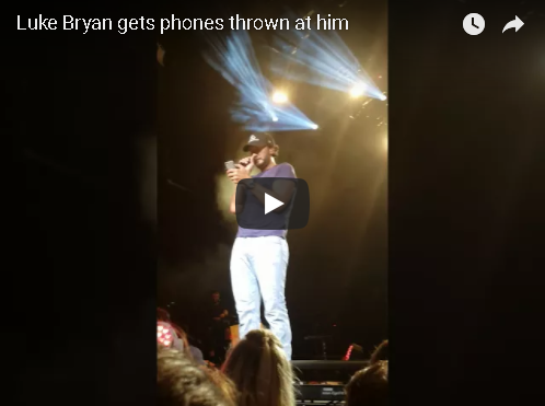 Luke Bryan Attacked With Cell Phones