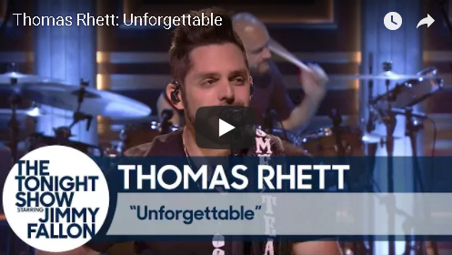 Thomas Rhett Performs On The Tonight Show