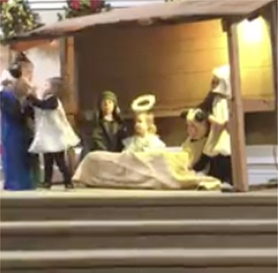 2 Year-Old Steals A Baby Jesus