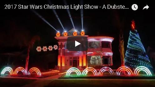 Star Wars Dub Step Christmas Light Show