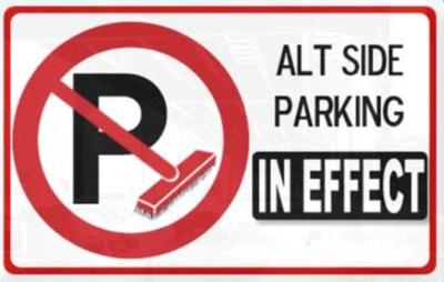 Alternate Side Parking Is Back...For 48 Hours