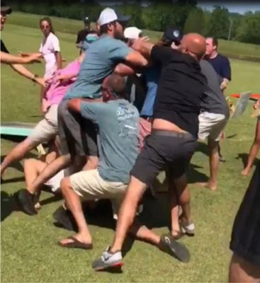 Who Knew Cornhole Could Be Such A Violent Game?