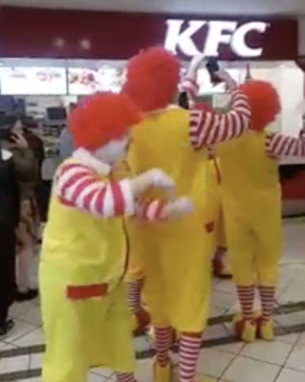Ronald McDonald Visits KFC