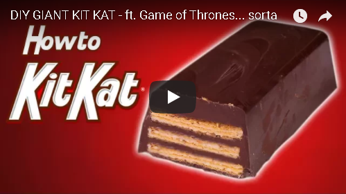 DIY Giant Kit Kat Bar