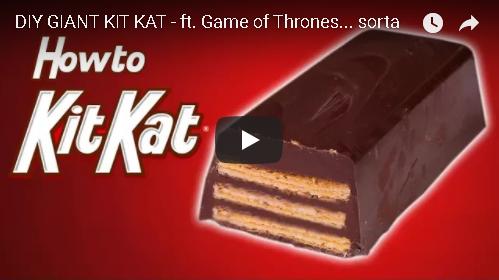 DIY Giant Kit Kat Bar