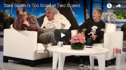 """Sam Smith """"Spooked"""" Not Once, But Twice On Ellen"""