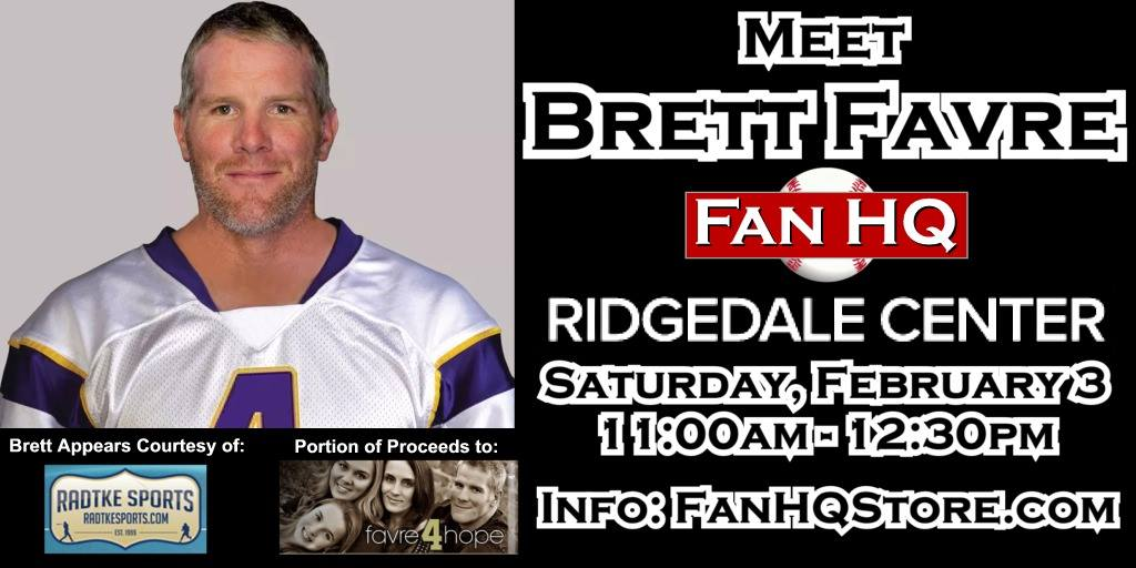 Brett Favre Headed To Minneapolis For An Autograph Signing Super Bowl Weekend
