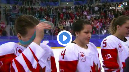 Watch: Canadian Hockey Player Won't Wear Silver Medal