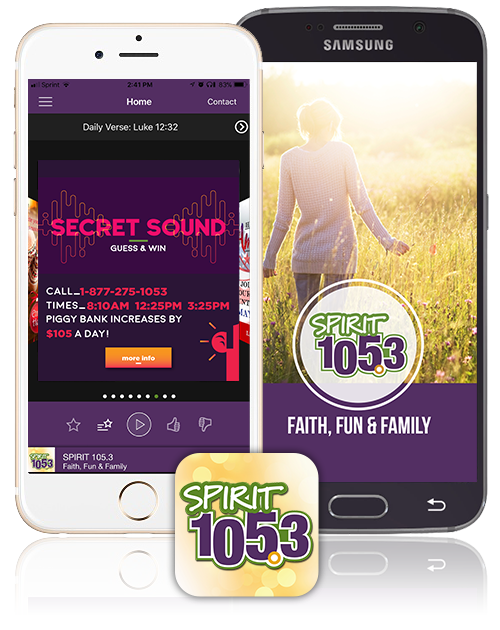 SPIRIT 105.3 Mobile Apps
