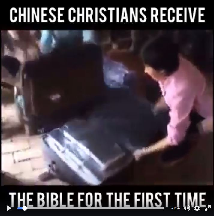 Chinese People Receive Bibles For The First Time