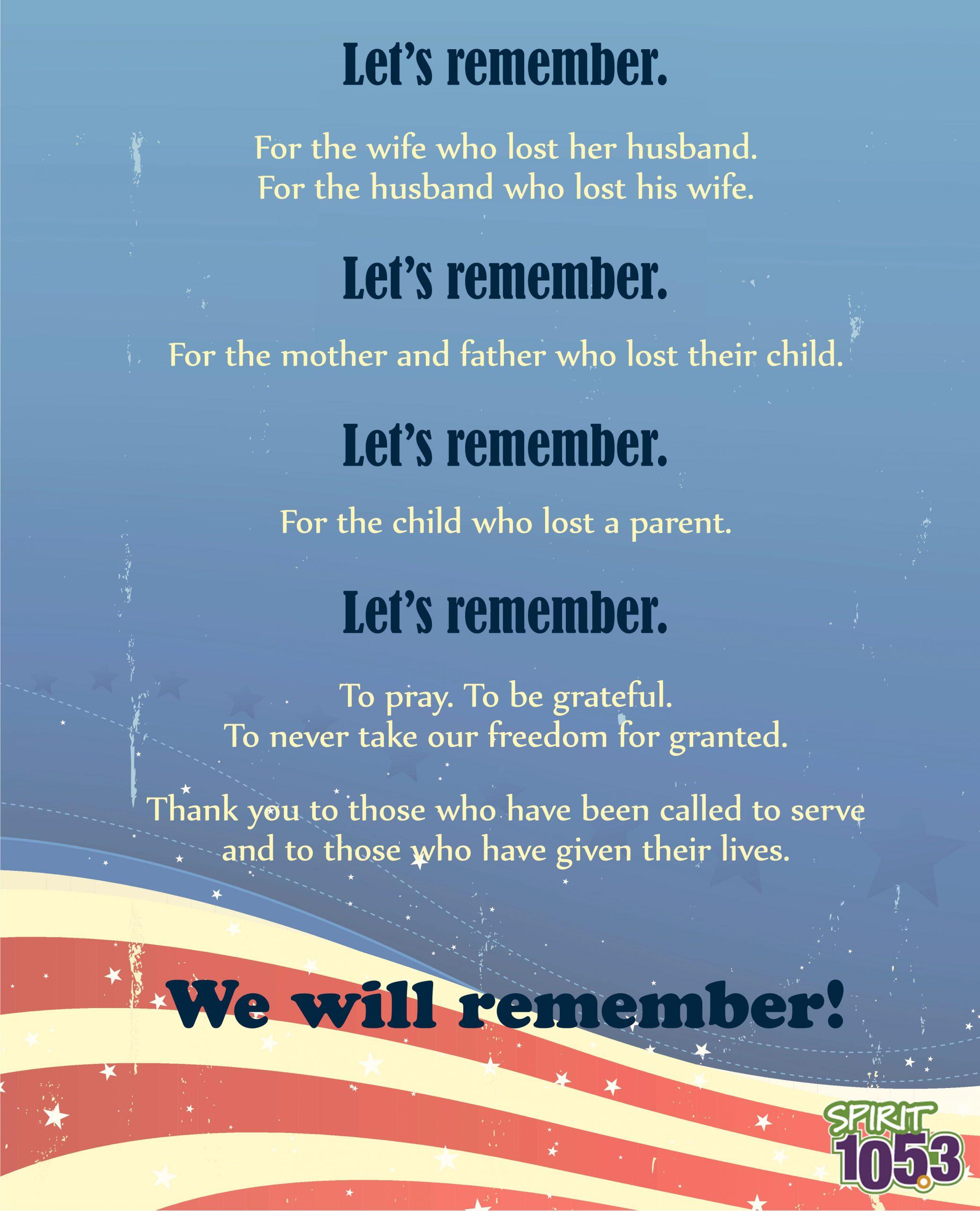 A Memorial Day Prayer
