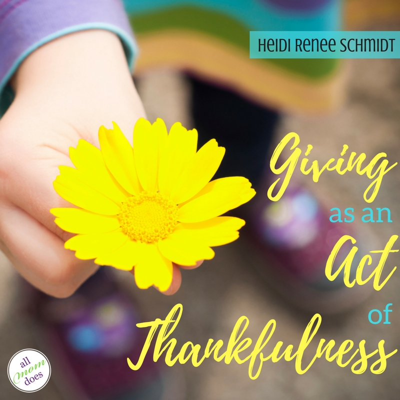 Giving As An Act of Thankfulness