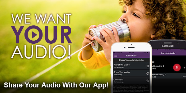 We Want Your Audio!