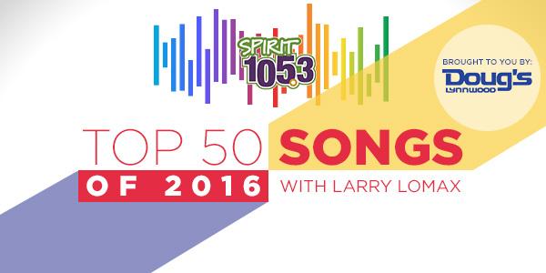 Top 50 Songs of 2016