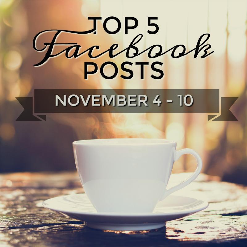 Facebook Top 5 (11/04-11/10)